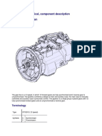 Gearbox, Mechanical, Component Description for UD TRUCKS GWE370