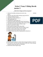 Kelas 2 Tema 5 Hidup Bersih Dan Sehat Semester 2
