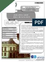 Instituto Aocp 2013 Colegio Pedro II Bibliotecario Prova