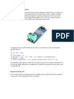 Medidor de Intensidad ACS712 Arduino