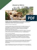 Licencia Ambiental en Bolivia