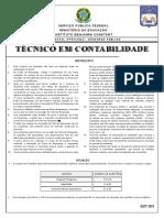 Instituto Aocp 2013 Ibc Tecnico Em Contabilidade Prova