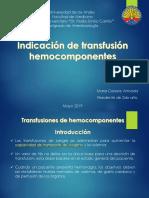 Indicación de Hemocomponentes