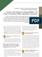 """""""Prenons nous-mêmes nos responsabilités"""", dit Pieter Timmermans (FEB), négociateur chevronné"""