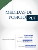 Medidas de Posición