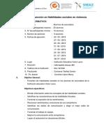 Sesiones Del Programa de Habilidades Sociales 2019