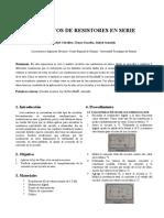 CIRCUITOS DE RESISTORES EN SERIE