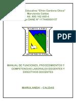 Manual de Funciones i.e. Efren Cardona Chica
