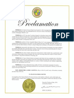 St. Francis School Month Proclamation