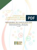 Operario de Carpinteria y Montaje de Construcciones Metlicas