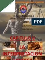 Capitulo v La Interpretacion Juridica