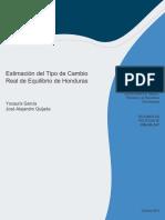 Estimación Del Tipo de Cambio Real de Equilibrio de Honduras