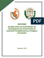 Informe de Actividades de Emergencia