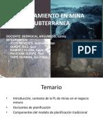 Planificacion Minera en Mineria Subterranea