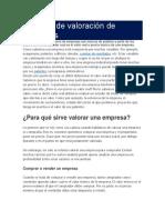 Tecnicas de Valorizacion de Una Empresa Que Cotice en La Bolsa de Valores de Lima