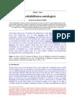Indecidabilitatea ontologică (Kelley L. Ross)