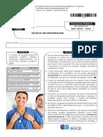 Instituto Aocp 2015 Ebserh Tecnico de Enfermagem Hdt Uft Prova