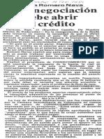 Edgard Romero Nava Afirma La Renegociacion Debe Abrir El Credito - Diario El Impulso 14.09.1989
