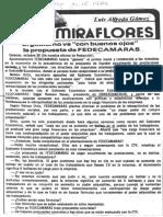 El Gobierno Ve Con Buenos Ojos La Propuesta de Fedecamaras - Luis Alfredo Gomez - El Impulso 31.10.1989
