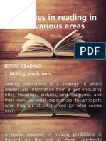 Strategies in Reading in the Various Areas