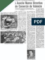 Juramentada Anoche Nueva Directiva de Camara de Comercio de Valencia - 1989