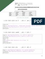 Solucion de ecuaciones por matlab