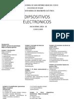 DIPSOSITIVOS ELECTRONICOS