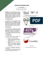 Tipos Licencias Software Libre