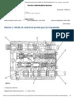Selector y Válvula de Control de Presión Para La Transmisión-especificacion