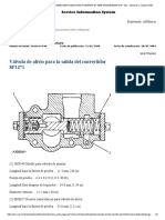 Válvula de Alivio Para La Salida Del Convertidor-especificacion