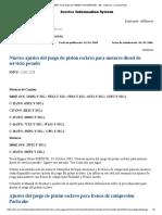 Nuevos Ajustes Del Juego de Pistón Esclavo Para Motores Diesel de Servicio Pesado