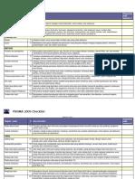 Prisma 2009 Checklist