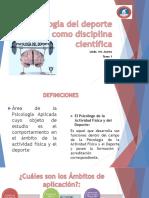 1 Psicología Del Deporte Como Disciplina Científica