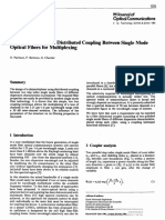 [Journal of Optical Communications] Wavelength Selective Distributed Coupling Between Single Mode Optical Fibers for Multiplexing