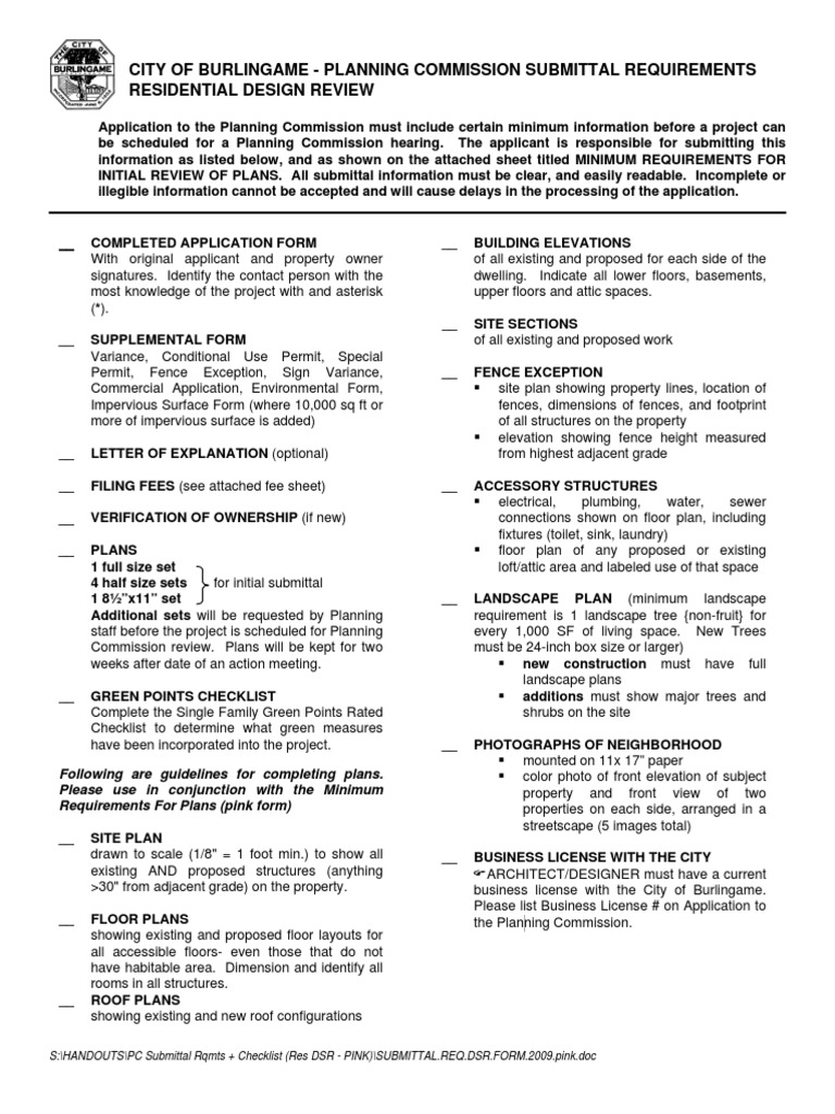 Burlingame Planning Req | Economic Sectors | Building