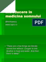Introducere in Medicina Somnului