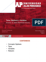 5 Hipótesis y Variables.