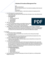 routines   procedures management plan