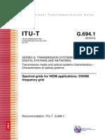 ITU-T Frequency Grids WDM Applications