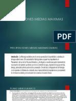 Precipitaciones Medias Maximas