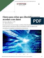 Claves Para Evitar Que Ciberdelincuentes Accedan a Sus Datos - ELESPECTADOR.com