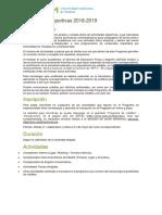 Actividades Deportivas 2018-2019