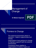 Mgmt of Change