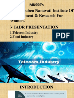 IADR PPT Telecom and Food Industry