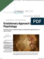 evolutionary path of psychology
