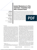 Paper - Contact Mechanics of a Thin, Tensioned, Translating Tape With a Grooved Roller