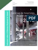 CATALOGO HOSPITALES 2012 SERVICIO MURCIANO DE SALUD