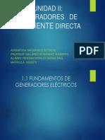 UNIDAD II DIAPOSITIVAS MOTORES DE CORRIENTE DIRECTA