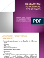 Developing Functional Strategies