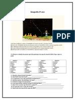 Prova Geografia 3º Ano (1)
